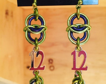 12th Man Shaggy Earrings