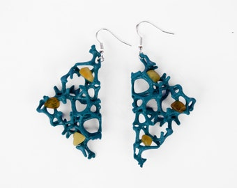 3D Printed Women Modern Amber  Earrings