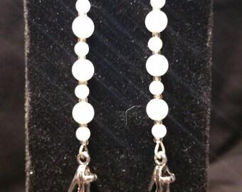 Silver & Faux Pearl Dangle