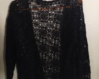 Black spiderweb sweater