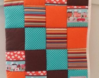 Patchwork baby quilt,Baby blanket,Handmade baby quilt,Baby cot quilt,Nursery bedding