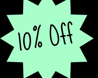 10 PERCENT OFF Coupon Code for All Items