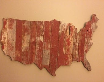 United States Barnwood Map