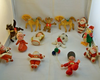 Vintage Flocked Ornaments