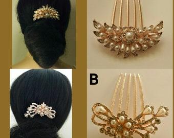 Bridal Ivory hair comb hair accessories wedding hair pin bridal hairwear hairpins flower hairwear hair comb pearl hairpin crystal hairwear