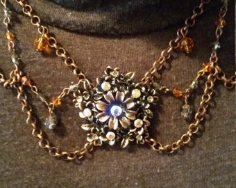 Radiant Vintage Edwardian Style Festoon Necklace