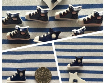 Sneaker buttons set of 5. Made in Italy