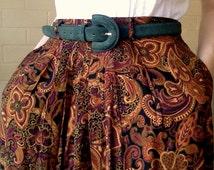 Vintage hunter green suede belt - 70s/80s - genuine leather