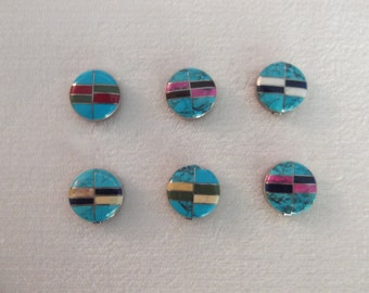 Silver Turquoise inlaid button covers Sundance Catalog