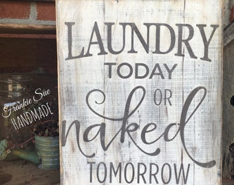 Laundry Room Sign, wooden sign, distressed sign, laundry sign