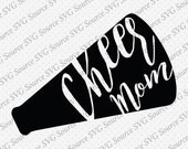 Cheer Mom SVG and Vector Instant Download with DXF Cut Files for Silhouette and Cricut - PNG, ai and eps