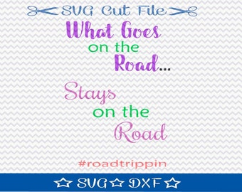 Road Trip SVG File Download / SVG Cut File for Silhouette or Cricut / Summer Vacation svg / Spring Break svg