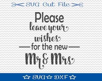 Wedding SVG File / SVG Cut File /  SVG Download / Silhouette Cameo / Digital Download / Wedding Sign svg / Guest Book svg