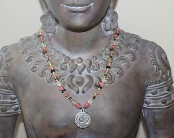 Tourmaline and Smoky Quartz Healing Stone Necklace