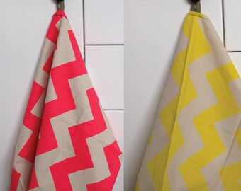 Tea Towel - Neon Chevron