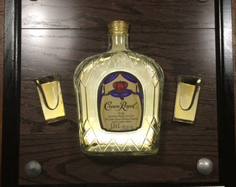 Crown Royal Canadian Whiskey Sign. LED bar/pub sign made from recycled materials and looks great in your mancave or home bar.