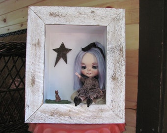 Blythe doll room box, display box, mini room box, hanging room box, shadow box