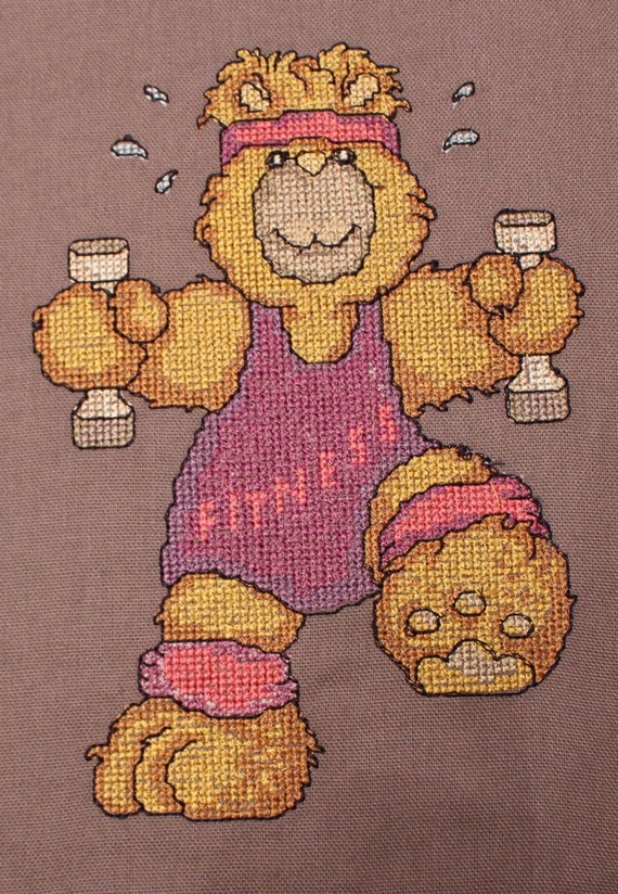 Items similar to fitness teddy cross stitch machine
