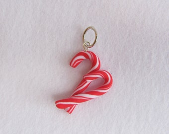 Candy canes pendant/key ring/wedding favor