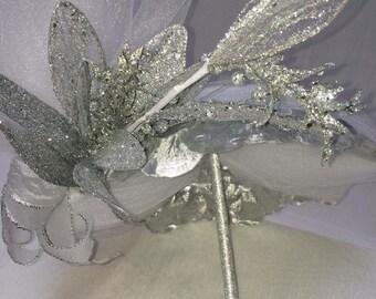Metallic petals and glitter flower