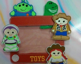Toys finger puppets inspired by Toy Story. Woody Jessie Buzz