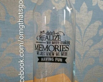 Memory jar. All your little treasures and memories in one place and visible.