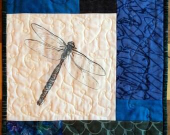 "Art quilt: ""Mosquito Hawk"""