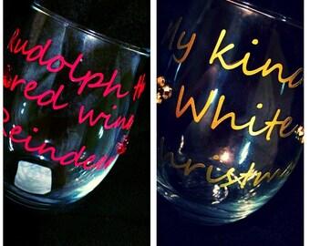 Wine glass without stem