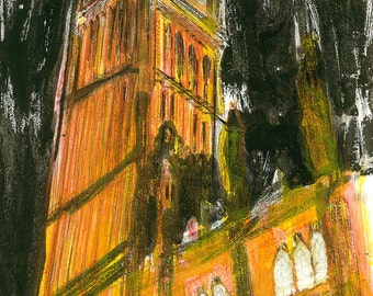 BIG BEN - London Clock Tower Giclee Fine Art Print