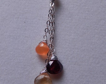 Gemstone Dangle Necklace
