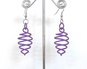Quasiduceus v.1 - Purple 3D printed Earrings