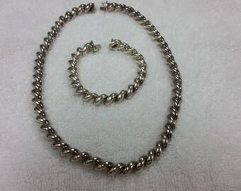 Women's Chain Necklace Bracelet Set 18 & 7.5 Inches
