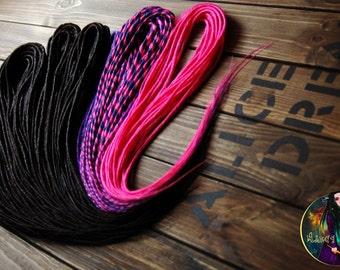 Set of synthetic double classic dreads DE dreads pink purple Black dreads hair extension