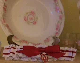 University of Oklahoma wedding garter