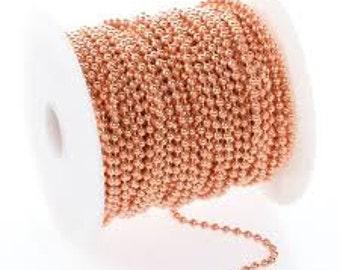 Copper Ball Chain