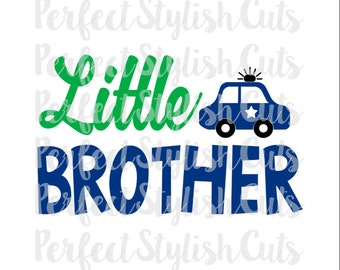 Little Brother SVG, DXF, EPS, png Files for Cutting Machines Cameo or Cricut - Spaceship svg, Svg Sayings, Police Car svg, Baby Boy svg