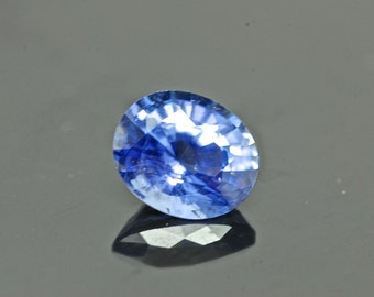 Certified Natural Sapphire, Ceylon Blue Sapphire,  1.77ct Oval Loose Gemstone Sapphire (for Engagement or Wedding)