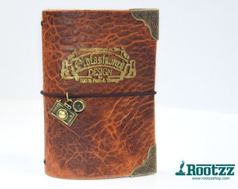Passport Traveler's notebook cognac vintage photo midori travelers notebook