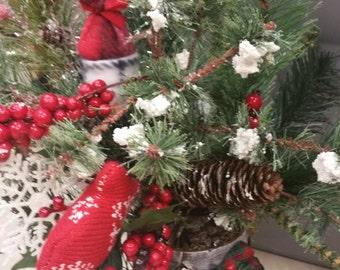 Rustic Snowman Floral Arrangement