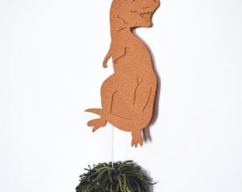 Dinosaur Cork Large Green Pom Pom Wall/Furniture Decor