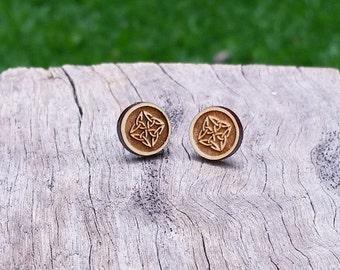 Diamond Timber Earrings