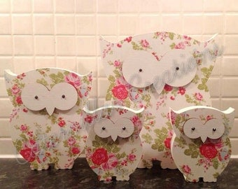 Floral Owl Family