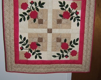 Baskets of flowers wall hanging