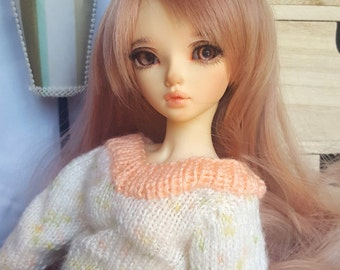 BJD MSD sweater, knitted, fits slim MSD like Minifee or Unoa, cute sweatshirt