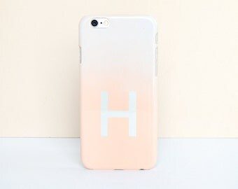 Personalised Letter iPhone Case - Ombre Pastel