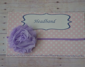 Lavender headband for babies, toddlers and little girls