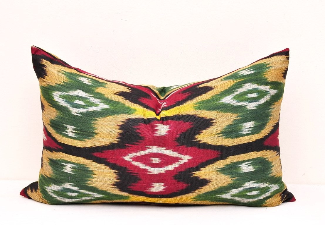 Decorative Lumbar Pillow cover Ikat Pillow Cover Pillow