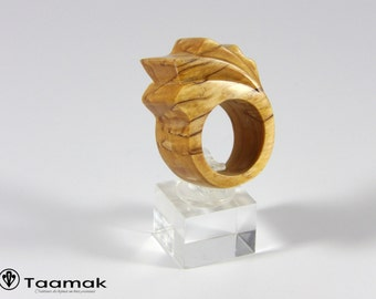 Carved Birch of Norway ring