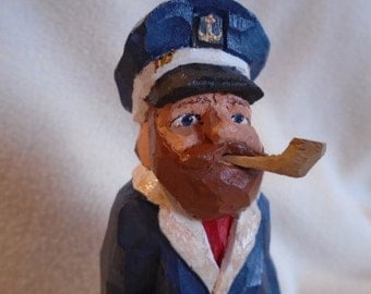 Hand Carved Old Sea Captain