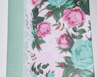 Shabby Chic Floral Note Pad